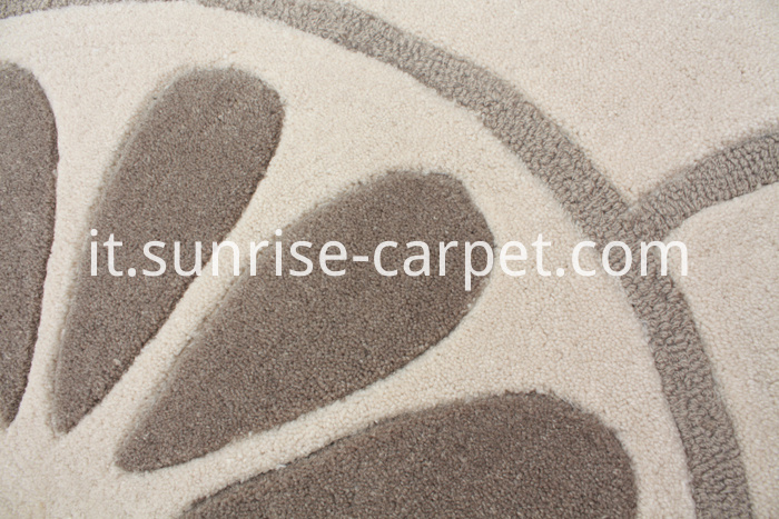Carved Carpet with Cut pile and Loop Design