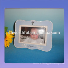 Handgemalte keramische Fotorahmen für Babypartygeschenk in der Qualität