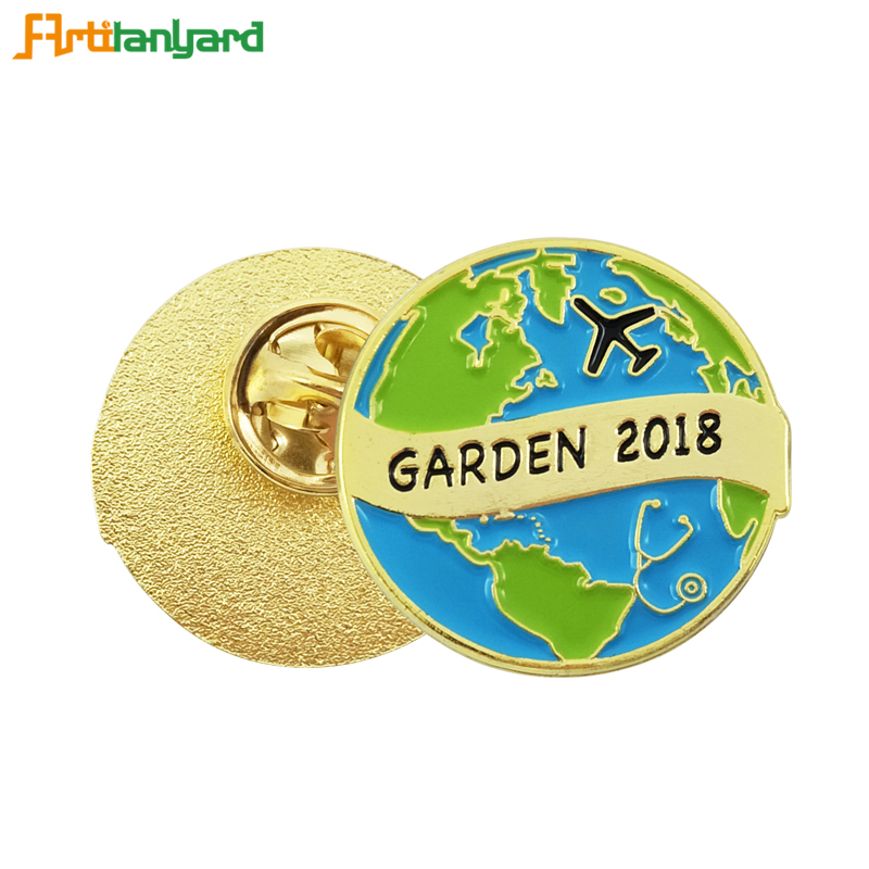 Custom Metal Badges With Plating Gold