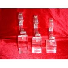 Conjunto de exibição de relógio de acrílico transparente (A4)