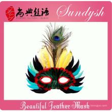 Einzigartige handgefertigte Party Vogel Kopf Masken Federmaske