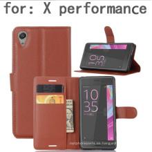 Cartera de teléfono celular para Sony X Performance