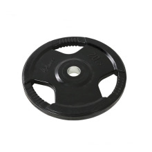 rubber gym 45 lb best fitness gear cast tri grip weight surface plates