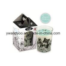 Bougies parfumées de luxe de cire de soja comme cadeau