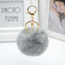 Rex Kaninchen Pelz Schlüsselanhänger Anhänger für Auto Schlüsselring oder Handtasche für Dekoration