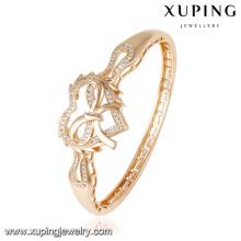 50848 moda charme cz em forma de coração pulseira de jóias de ouro 18k banhado a ouro