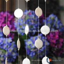 Divisão de decoração de casa com cortina de contas com concha