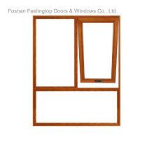 Порошковое покрытие с двойным остеклением, утепленные Звукоизолированные Алюминиевый тент Windows (фут-W70)
