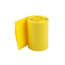 La gaine faite sur commande de rétrécissement de la chaleur de PVC de couleurs jaunes pour la cellule 18650