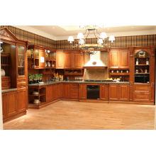 Mobiliário de Cozinha Mobiliário de Cozinha em Madeira Maciça de Luxo