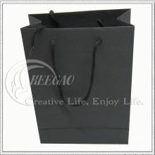 Bolsa de papel negra (KG-PB033)