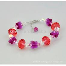 Meninas charmoso presente de Natal cristal frisado pulseiras