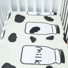 Soft cute patterns baby crib sheet