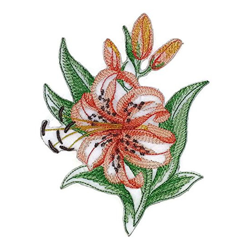 Lily Embroidery Patch