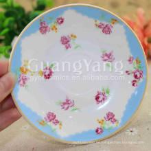 Platos de cena de diseño de pescado esmaltado de porcelana de año nuevo