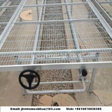 Galvanized+Welded+Wire+Mesh+Greenhouse+Rolling+Benches