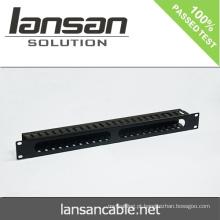 Gerenciamento de cabos de 1U com 24 portas / 48 portas Acessórios de cabeamento de rede