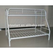 as camas de beliche as mais atrasadas do ferro do metal branco para crianças projetam