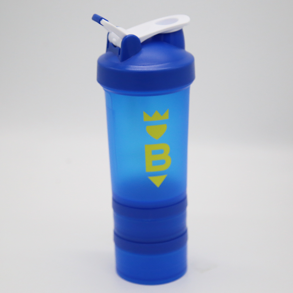 450ml Blue Bottle Shaker Bottle Two Screw-up Container