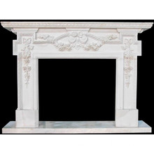 Western Style Italian Style White Marble Fireplace