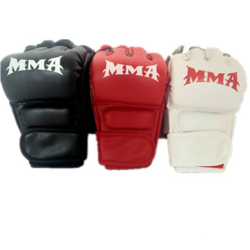 Pro Adult And Child Half Finger PU Artificial Leather Sparring Boxing Gloves