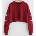 Fleece Crop Top Hoodie benutzerdefinierte