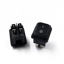 JS-608FA-0-BB-2-P 2pins 3pins on-off 6A 250V AC power socket  waterproof cover mini rocker switch