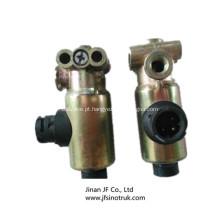 DZ9100716009 Válvula solenóide Shacman peças do caminhão basculante