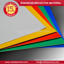6 color available reflective banner/reflective sheeting