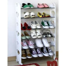 White Shoe Cabinet with Metal and Plastic Material (FH-SR06W)