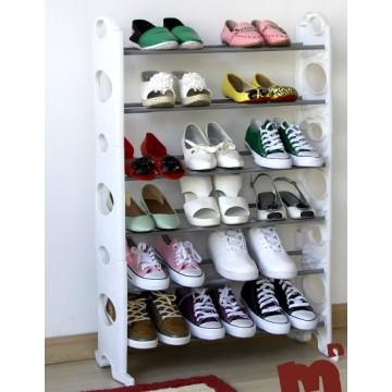 Gabinete de zapato blanco con metal y material plástico (FH-SR06W)