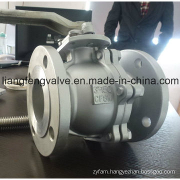 2 PC Flanged Ends Ball Valve with Stainless Steel