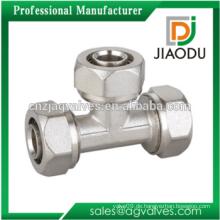 Brass Forged Equal Tee Kompressionsverschraubungen für PEX-AL-PEX Rohr