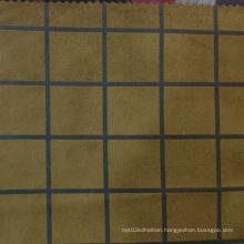 Plaid Printed Suedette Fabrics 2016