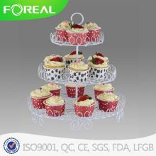 Металлическая проволока белое покрытие 3-третий день рождения десерт пластина