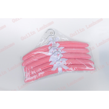 Cintre rembourré en satin 5 pcs