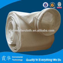 Polyester needle felt bag for dust filters