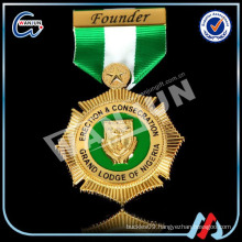 Factory Direct Sale Military Gold Medals With Ribbons/Custom Military Medal Ribbon no minimum order