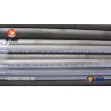 Tubo de aleación de níquel transparente SB163 / SB165 / SB829 Monel Alloy 400 UNS N04400