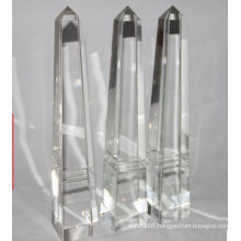 Custom Glass Pyramid Crystal Trophy Free Engraving