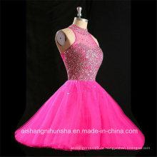 Frauen-reizvolles Backless Sleeveless Tulle-Abend-Partei-Abschlussball-Kleid