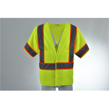 ANSI Class 3 Reflective Radio Loop Multi Pockets Safety Vest