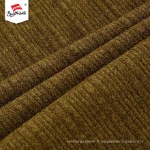 Tissu tricoté épais de chandail épais de sensation de main douce faite sur commande