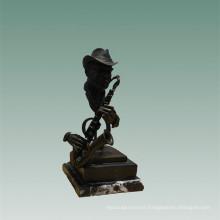 Busts Brass Statue Saxophonist Decoration Bronze Sculpture Tpy-756