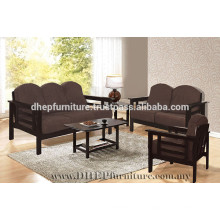 Set de sofá de madera, sofá con cojín