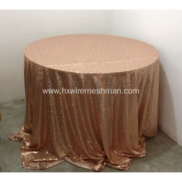 Metallic sequin table cloth