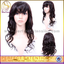In India Glueless Virgin Human Hair Wave Full Lace Wig Indian Remy Short Style