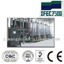 Sistema de limpieza sanitaria de acero inoxidable CIP automático