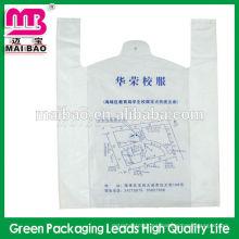 Bolso transparente disponible de la camiseta del bolso del chaleco del hdpe / ldpe del chaleco de la camiseta disponible