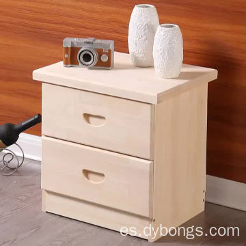Modern Bedroom natural color 2 drawers Wooden Beside Table night stand